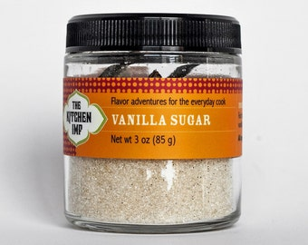 BULK Organic & Fair Trade VANILLA SUGAR - 8 or 16 ounces