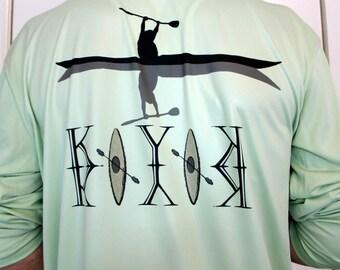 Kayaker vapor t-shirt UPF +50, lightweight and comfortable with PURE-Tech® moisture wicking 4oz 100% Microfiber. .
