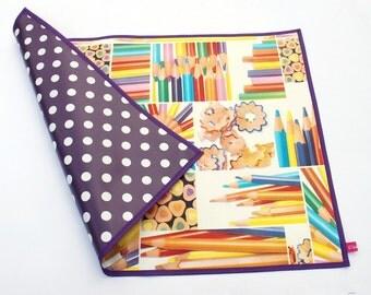 oilcloth placemat / time base / desk pad