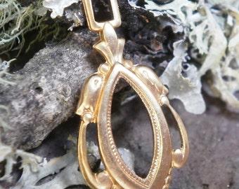 Raw Brass Stamping Pendant Earring Drop