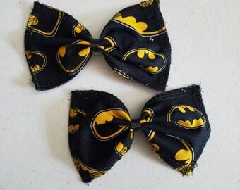 BATMAN Fabric Hairbows