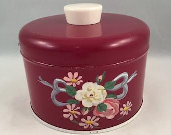 Ransburg Powder Box Vintage Hand Painted
