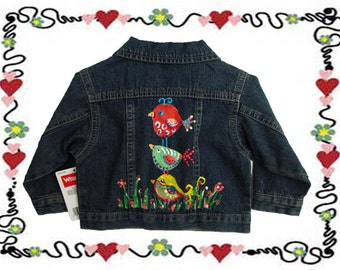 Kids Jean Jacket Size 18 MO / Kids Denim Jacket / Child Jacket / Child Clothes 18 months