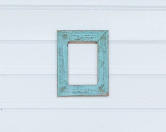 "5x7 2"" Painted Barnwood Frame-  Blue, Green, White, or Coral"