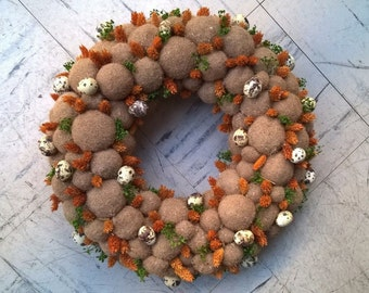 """16"""" Spring Wreath - Dried Easter Wreath - Spring Decoration"""