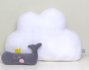 Small white cloud. Nursery decor. White cloud. Kids bedroom