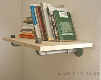 Bookshelf.. Wall Mounted Shelf.. Boutique Quality. Holds a TON. Shelf, Bookcase, Wood, Industrial Furniture. Steampunk Shelving