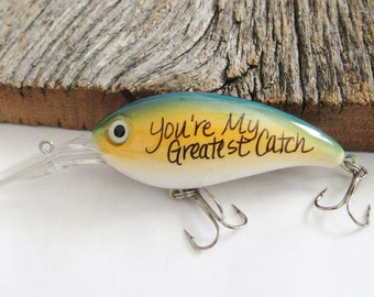 Christmas Gift for Husband Christmas Gift for Boyfriend Gifts under 20 Gift Ideas for Him My Greatest Catch Fishing Lure Keychain Engagement