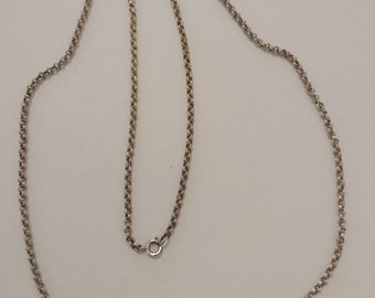 Vintage double link sterling silver chain
