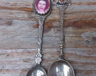 Two vintage commemorative 1953 teaspoons