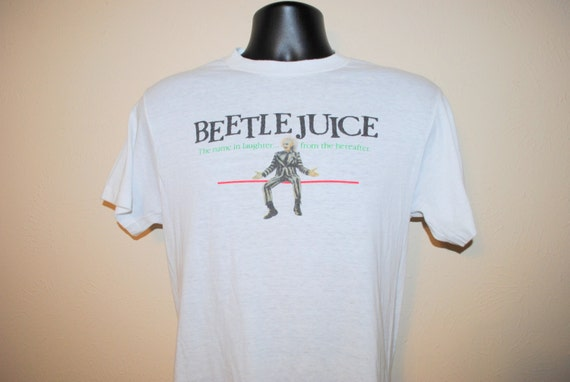 1988 beetlejuice the name in laughter from the hereafter rare for Juilliard college t shirts
