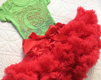 Personalised embroidered Baby & Children's  Christmas tutu set