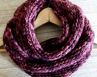 Easy Kntting Pattern Chunky Circle Scarf