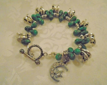 Turquoise Moon and Star Bracelet