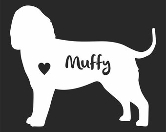 American Water Spaniel Dog Vinyl Sticker Decal Car Personalized With Name