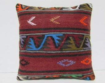 body pillow cover 18x18 floor cushion cover decorative pillow cover urban pillow sham aztec cushion cover hand embroidered pillow case 30037