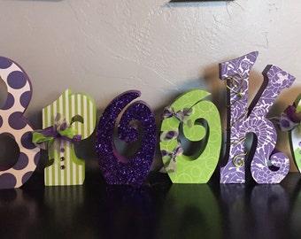 Custom wood letters. Wood letters. Nursery letters. Wedding letters.