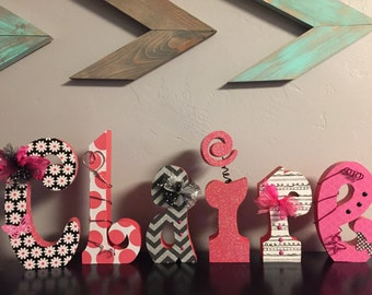 Custom wood letters. Wood letters. Nursery letters. Wedding letters. Baby name letters. Freestanding letters. Hang