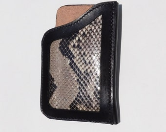 Leather Cell Phone Holster for iPhone 6 -Genuine Python Skin