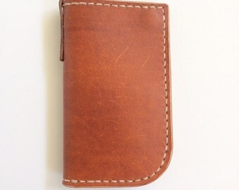 SAMPLE SALE - Leather Snap Mid Wallet - range tan