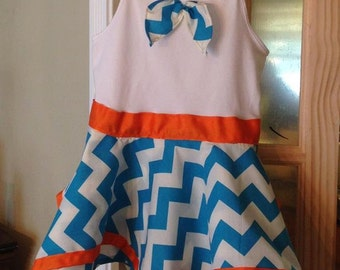 Handkerchief dress with matching apron