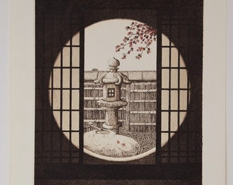 Genuine 1st Limited Edition Wood Engraved Print SHOUJI 5 by Norikane Hiroto