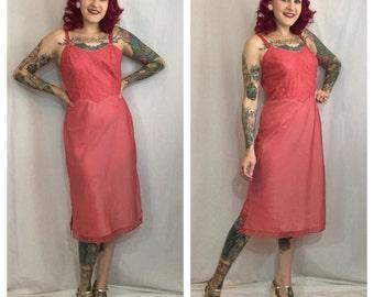 Vintage 1950's Pink Barbizon Slip
