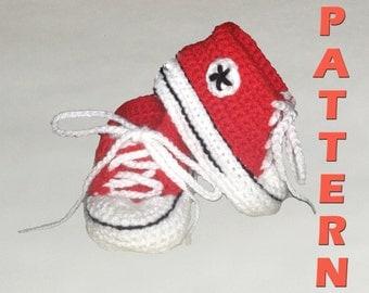 Baby Converse - Newborn - 3months - Crochet Pattern