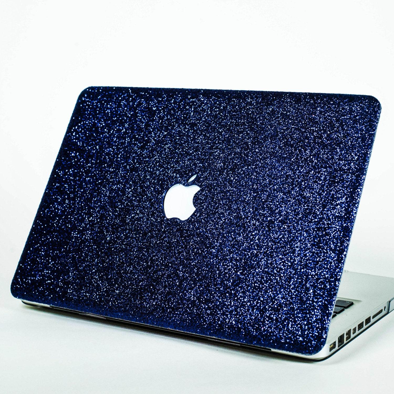 navy glitter macbook hard case for macbook air macbook pro. Black Bedroom Furniture Sets. Home Design Ideas