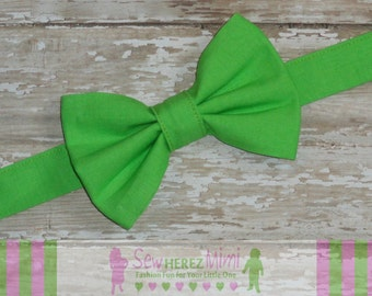 Lime Green pre-tied Bow Tie Infant, Child, Youth, Adult