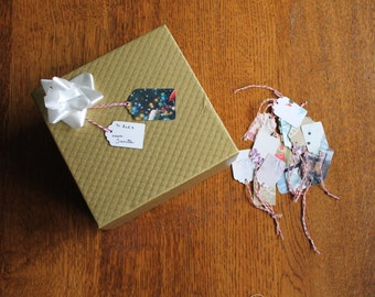 SMALL Upcycled Gift Tags (pack of 10)