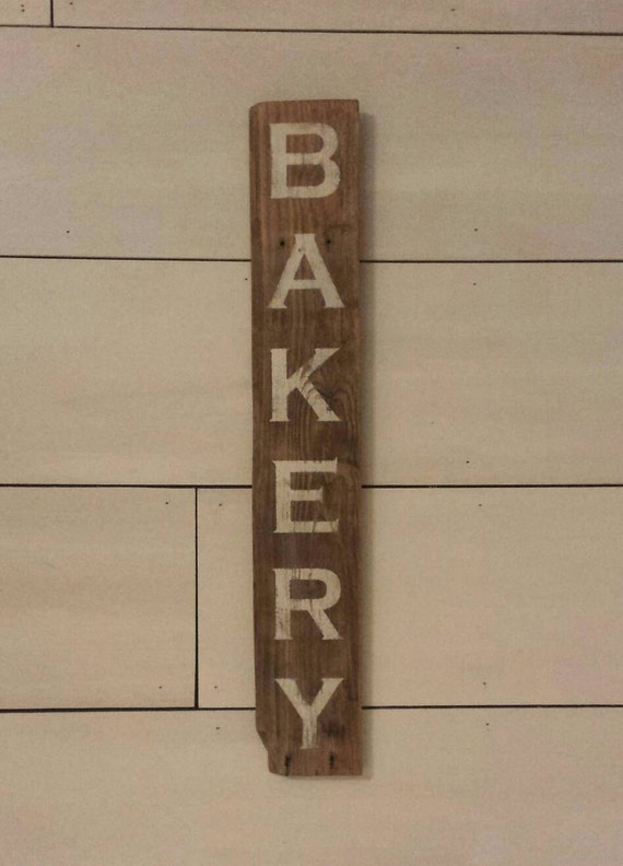 Wall Decor For Rustic Kitchen : Bakery sign rustic kitchen decor wall