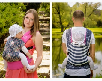 """Baby Carrier Double-sided / Ergonomic Sling / """"Fairy Tale+Nautical"""" Nap Bag by Bagy"""
