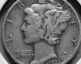 1939 P Mercury Dime Silver  #2691, Hard to Find Coin