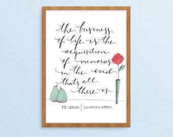 Mr Carson Downton Abbey Printable