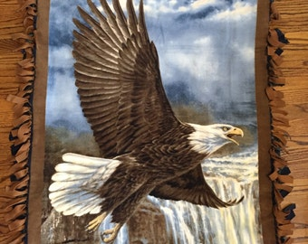 Eagle Fleece Tie Blanket
