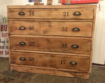 Numbers chest  - Solid oak