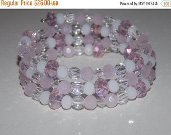 CLEARANCE 30%OFF Light Pink Wrap Bracelet