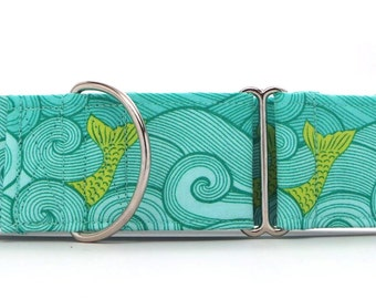 Mermaid Off The Port Bow! Pet Collar (Martingale, Buckle, or Tag)