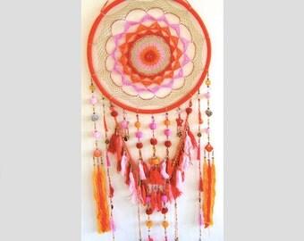 Extra Large Colourful Rainbow Dreamcatcher - Excellent Nursery Decor - LAZY DAYS