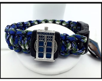 Doctor Who Tardis Timey Whimey Inspired Paracord  Bracelet by Uberjewelrydesigns