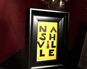 """4theloveofmusic615 """"Nashville"""" print in frame"""