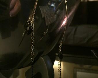 Hook Earrings with Smokey Quartz