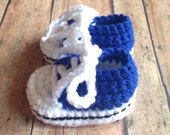 Baby shoes Royal Blue Crochet baby booties crochet baby shoes baby tennis shoes made to order