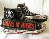 Guns N Roses shoes by Chad Cherry