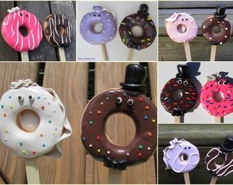 Custom Doughnut Bride & Groom Wedding Cake Toppers, Custom Wedding Toppers, Doughnut Wedding, Doughnut Cake Toppers, Custom Doughnut Wedding