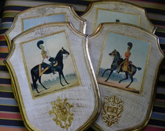 Decoupage wood equestrian plaque - buyer's choice among 4