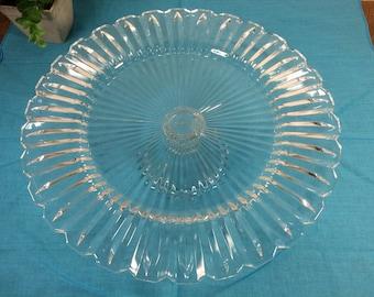 Custom Glass Cake Stand *FREE SHIPPING* Glass Cake Plate Cake Stand