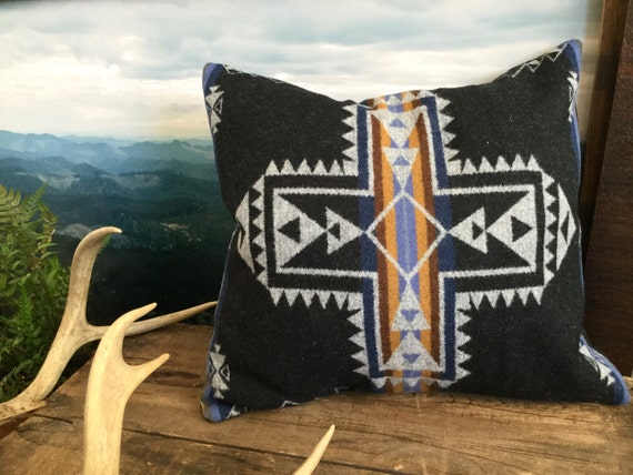 Southwestern Pillow Cover in Pendleton Wool by MercyGreyDesignCo