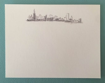 9 pack Chicago Skyline Greeting Card